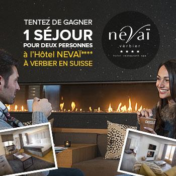 Tentez de gagner un séjour pour 2 personnes à l'Hôtel Nevaï