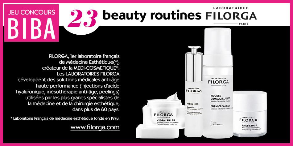 Tentez de gagner une des 23 beauty routines des laboratoires Filorga