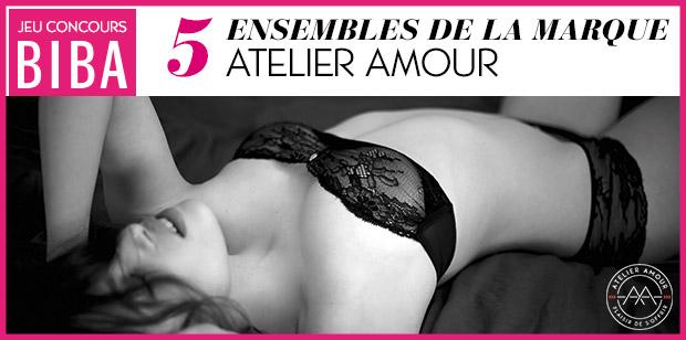 Jouez pour tenter de remporter un ensemble de la collection « Fenêtre sur Cour » de la marque Atelier Amour.