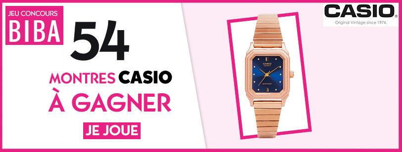 Biba vous fait gagner 54 montres de la marque Casio !