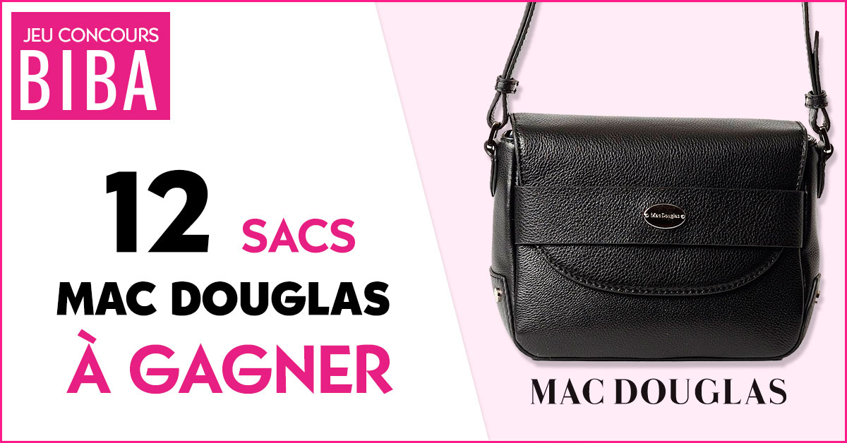 Tentez de gagner 12 sacs Blaine de la marque Mac Douglas d'une valeur de 273 euros TTC !